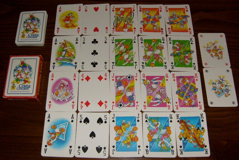 Guido pacitto web site carte da gioco topolino costa for Come costruire un mazzo sul retro portico